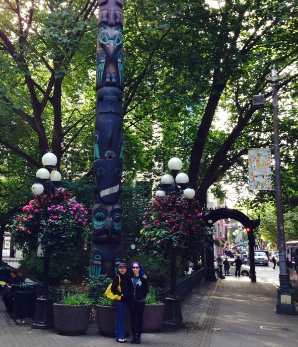Mom & I in Pioneer Square
