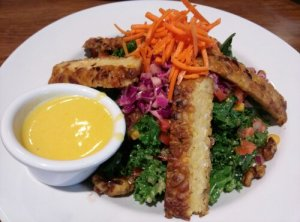 All Hail Kale with grilled tempeh.