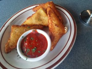 Fried Mozzarella Wedges $8