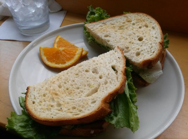 VBLT: avocado, lettuce, tomato, vegan bacon, veganaise