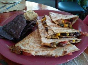Black Bean Quesadilla, $9
