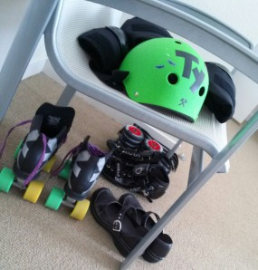 Hers and His skates