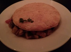 Pot Pie with an enormous biscuit top!
