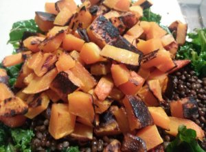 and then added the lovely roasted squash after it cooled slightly.