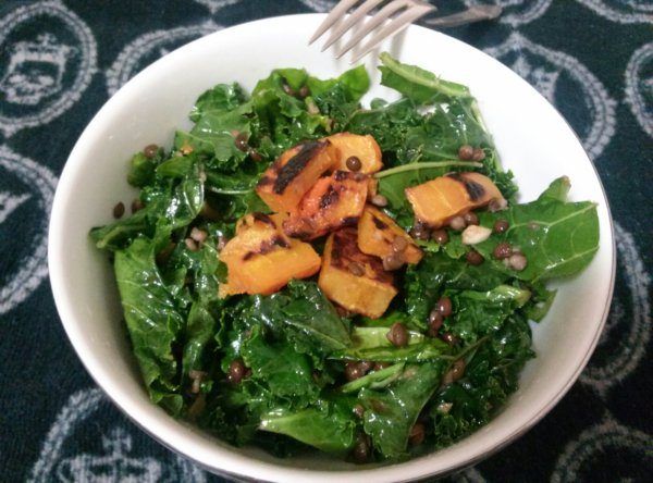 Kale Salad with Butternut Squash & Lentils pg. 77