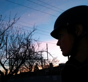 A lovely little sunset was waiting for us outside to bike back.
