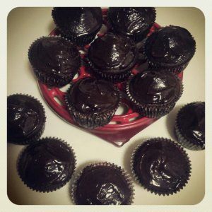 Spicy Chocolate Cupcakes with Chili Chocolate Ganache