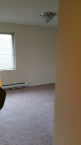 Bedroom 2 is smaller, but still a good size closet and perfect as an office, art room, guest room. We have a guest room!